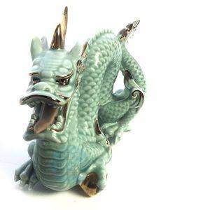 vtg Porcelain Japanese Dragon